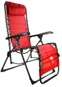 Aluminum chair, , red-black