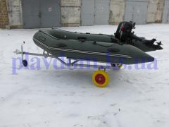 Collapsible trailer for a boat PVC