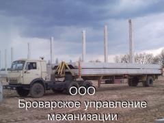 Грузоперевозки (негабаритные грузоперевозки) по Броварам