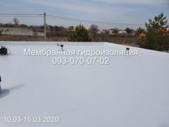 Installation of PVC membrane in Kryvyi Rih