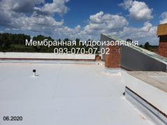 Laying PVC membrane in the Dnieper