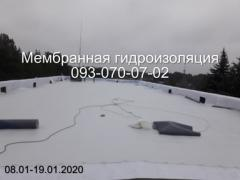 Membrane waterproofing of terraces, balconies in Nikopol