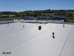 Мембранна покрівля, укладання мембрани в Києві