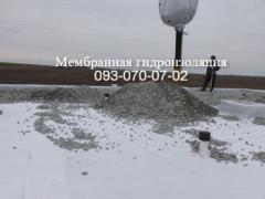 Монтаж балластной кровли в Селидово