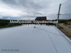 Пристрій мембранної покрівлі в Кам'янському