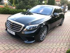Rent a car with driver in Minsk. Mercedes W222 S500 Long